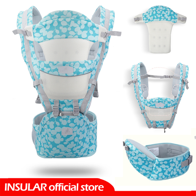 INSULAR 3 IN 1 Night Reflex Ergonomic Baby Carriers with Hip Seat Carrier Stool Hipseat For Newborn 0-36 Month Summer Travel