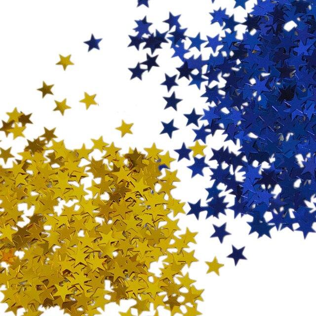 3000pcs/bag 6mm Stars Table Confetti Sprinkles Birthday Party Wedding Decoration Sparkle Blue Gold Silver Metallic Stars Supply