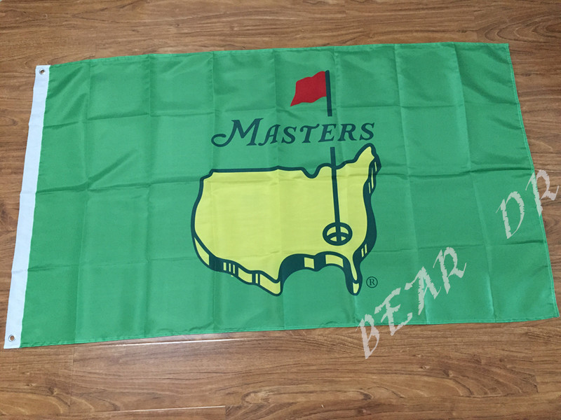 Masters Pin Flag 3x5 FT Banner 100D Polyester Flag Brass Grommets, free shipping