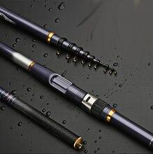 In Fibra di Carbonio Telescopica Rock Fishing Rod 3.6 5.4 M Duro Canna da Spinning Chiuso 78 Centimetri Bastone di Viaggi Basso Carpa pole