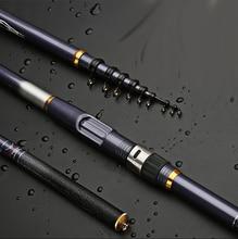 คาร์บอนไฟเบอร์ตกปลา Rod 3.6 5.4 M SPINNING Rod ปิด 78 ซม.Travel Stick BASS ปลาคาร์พเสา