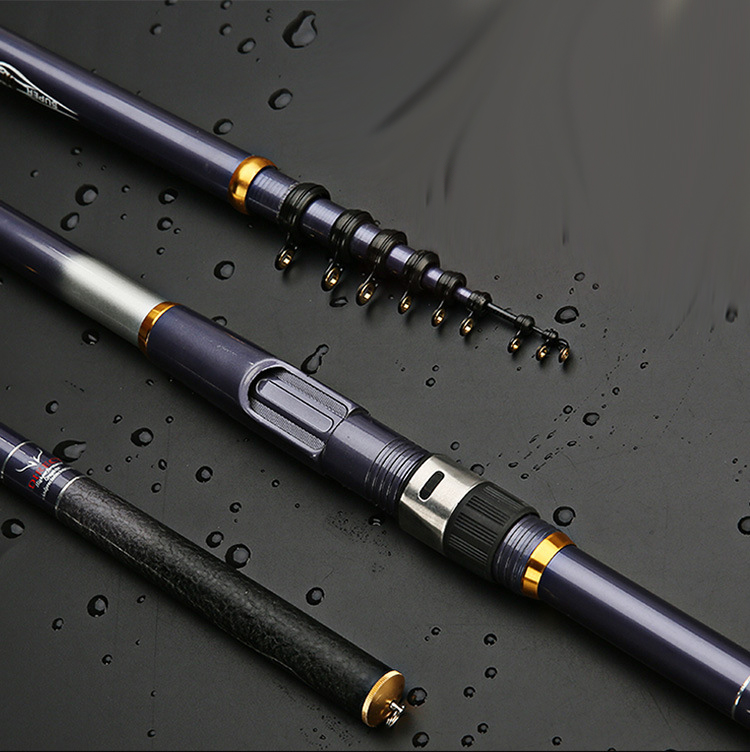carbon fiber telescopic rock fishing rod 3.6 5.4m hard spinning rod closed 78cm travel stick bass carp pole-in Fishing Rods from Sports & Entertainment