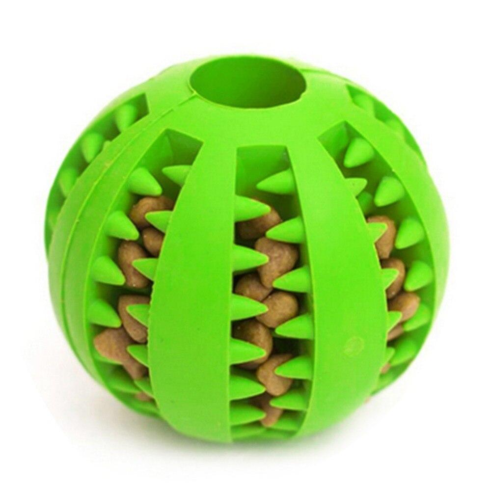 Смешная собака игрушки нетоксичен Укус устойчивостью игрушка мяч для домашних собак Щенок Еда лечения подачи чистки зубов мяч чихуахуа 25 S1 ...