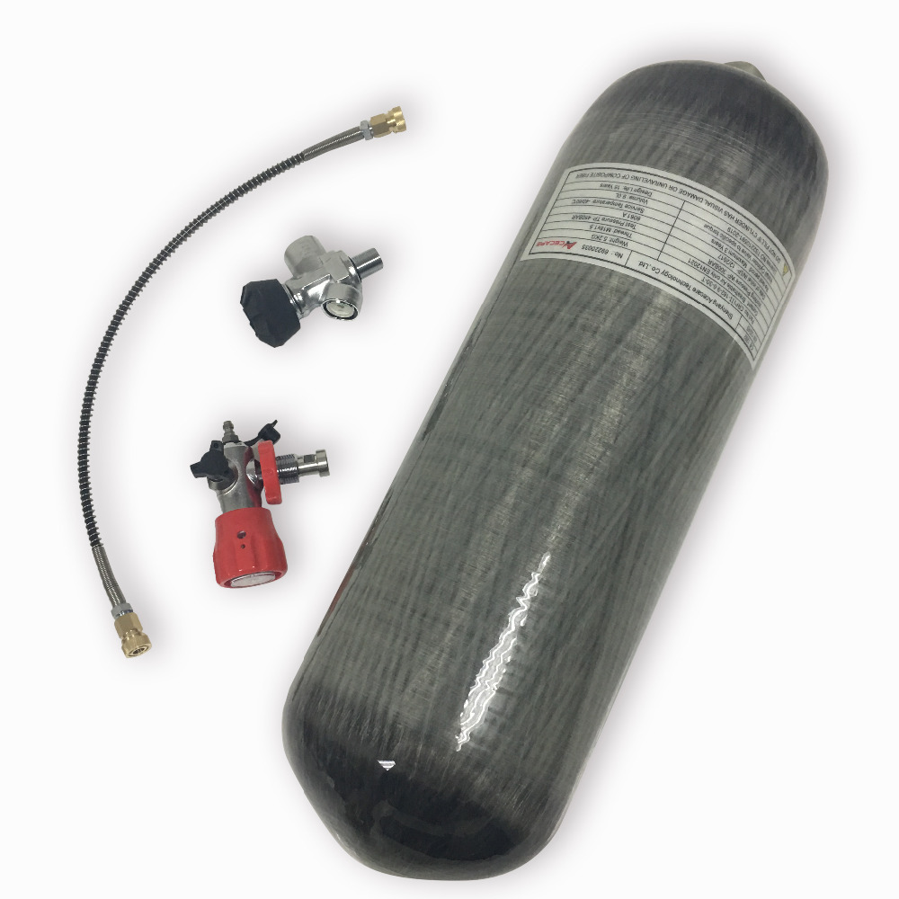 Gauged Valve+filling Station-k Durable In Use Ingenious Ac109301whole Set 9l 4500psi Compressed Air Carbon Fiber Scba Tank Cylinder For Air Gun Hunting Shooting