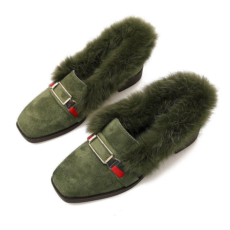 Chaud Garder Femmes Noir Au Avec Pile De Taomengsi Bean Hiver Simples 33 2018 Laine Loisirs Métal 43 Chaussures Green Taille En Plates À army Boucle Nouvelle gwqHxEFTq