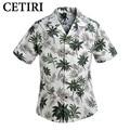 Camisas de algodón Para Hombre Vestido De Flores Hawaiano Gran Crucero Tropical Luau Beach Camisa Partido Hawaiia Palma Ocio Camisas Chemise Homme