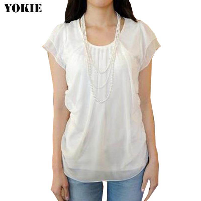 bd2c684e5dc2 € 4.48 50% de DESCUENTO Blusas de mujeres Camisa de gasa de manga corta de  mariposa casuales blusas camisas para mujer, camisa de mujer blanco mujer  ...