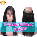 Pre Plucked 360 Frontal 8A Brazilian Virgin Hair Straight 360 Lace Frontal Closure With Baby Hair Brazilian Straight Human Hair