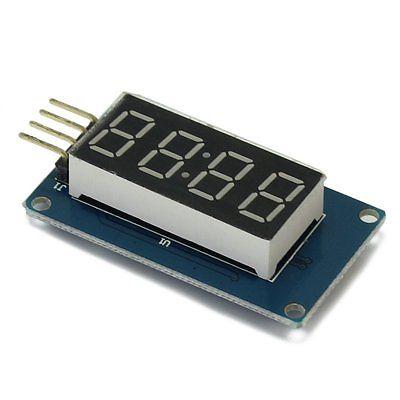2 шт. 4 биты цифровой LED Дисплей модуль с часами Дисплей