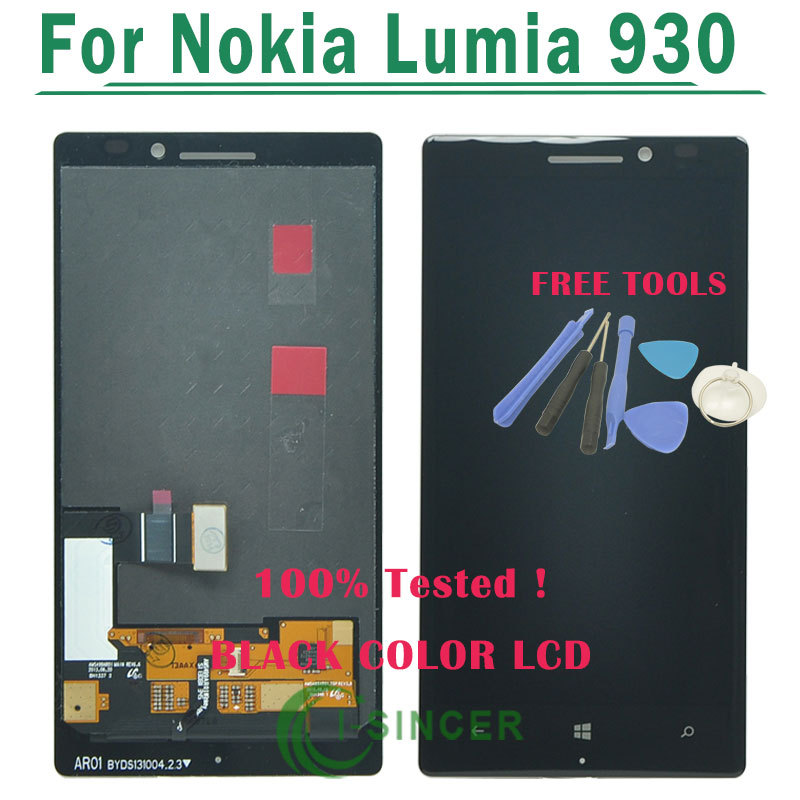1/PCS Black LCD Display Screen For Nokia Lumia 930 lcd with Touch Screen Digitizer Assembly For Lumia 930 +Tools