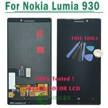 1/PCS Noir LCD Écran D'affichage Pour Nokia Lumia 930 lcd avec Écran Tactile Digitizer Assemblée Pour Lumia 930 + Outils