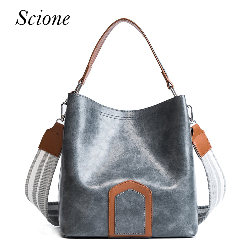 High Quality Leather Women Bag Solid Big Handbag For Young Ladies PU Bucket Shoulder Bags Female Fashion Bolsas New Arrivals