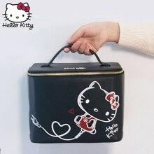 Hello Kitty Linda caja de almacenamiento de dibujos animados bolso cosmético para mujer bolso de viaje
