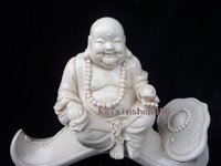 Blanc De China Dehua Porcelain Statue Of Buddha