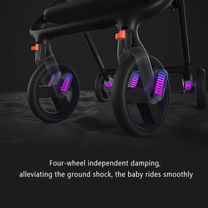 Image 3 - Xiaomi baby stroller 4 wheels shock absorption Antibacterial cushion Canopy cuts off ultraviolet rays 0 36 months baby trolley