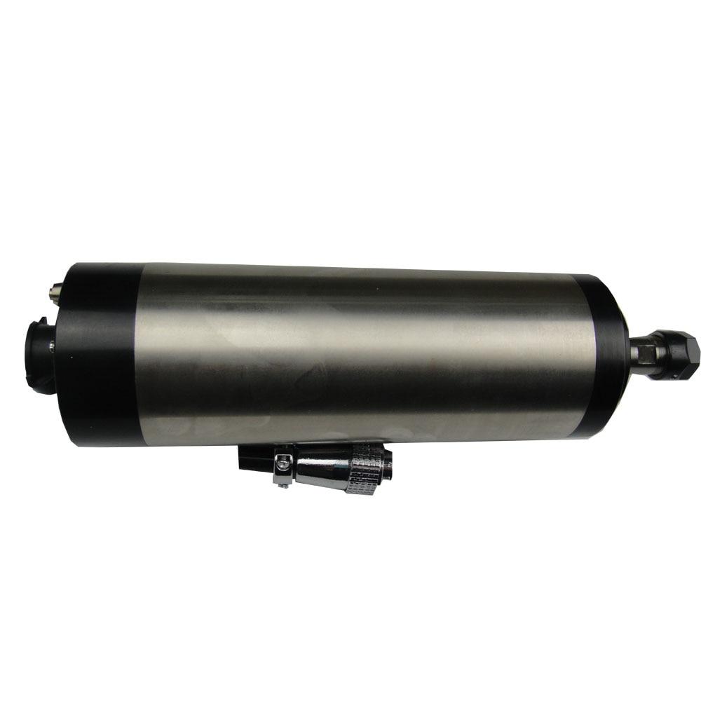 24000RPM läbimõõt 80mm, ER16 1,5KW vesijahutuse spindli mootor 4 laager cnc ruuterile