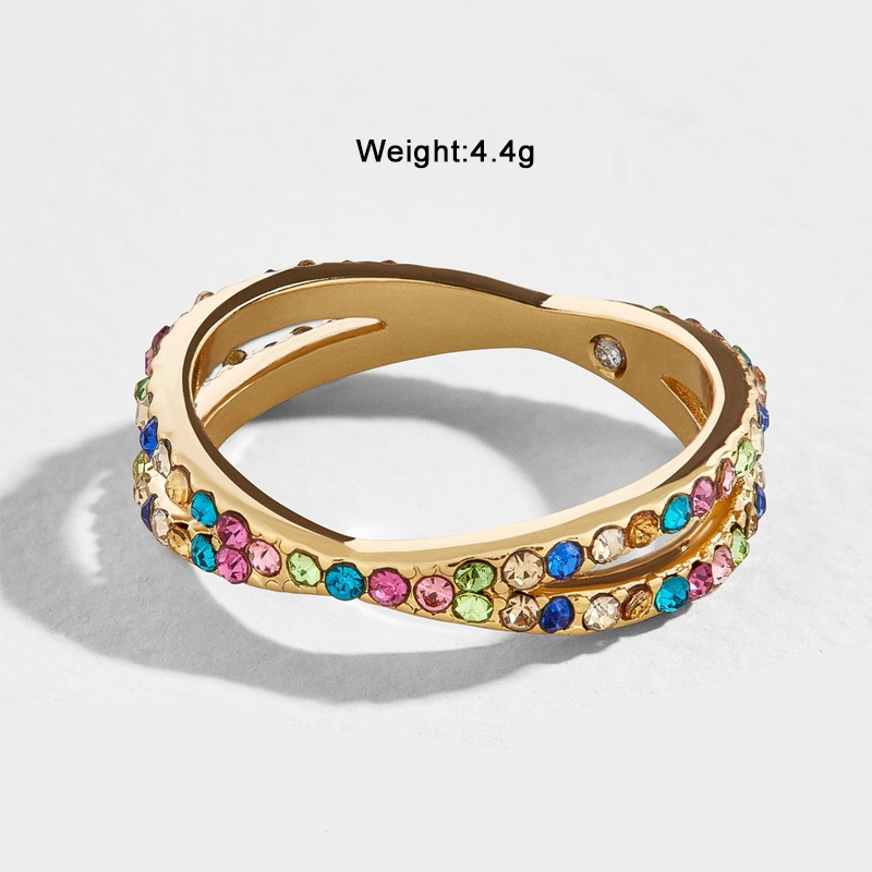 Lost Lady New Big Cross Zircon Ring Fashion Multicolor Female Jewelry Infinity Sign Women Gold Rings for Party Free Shipping in Rings from Jewelry Accessories