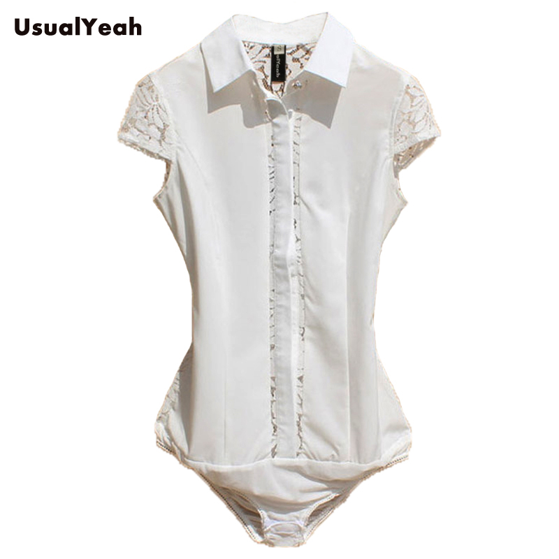 New 2018 Summer women's fashion casual short sleeve slim fit Lace Cutout office body shirts blouses for women white black SY0261