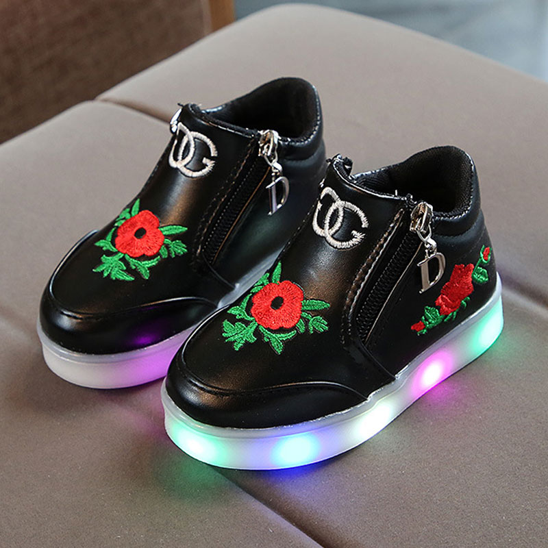 Luminous sneaker girls,Girls glowing sneakers,Shoes for baby girls,Childrens shoes,Girls shoes with luminous sole fashion BS031