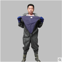 Fishing Rainwear Man Winter Breathable Chest Waders Waterproof Whole Body Clothes with Gloves Hunting Fishing Rubber Material