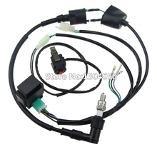 Wiring Loom Harness Kill Switch Ignition Coil 5 Pin AC CDI C7HSA Spark Plug Kits for 50-160CC Pit Dirt Bike new