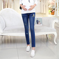 Korean winter Pregnant Women Pant Stretch Trousers cartoon embroidery Maternity Pants elastic abdominal pants NK99