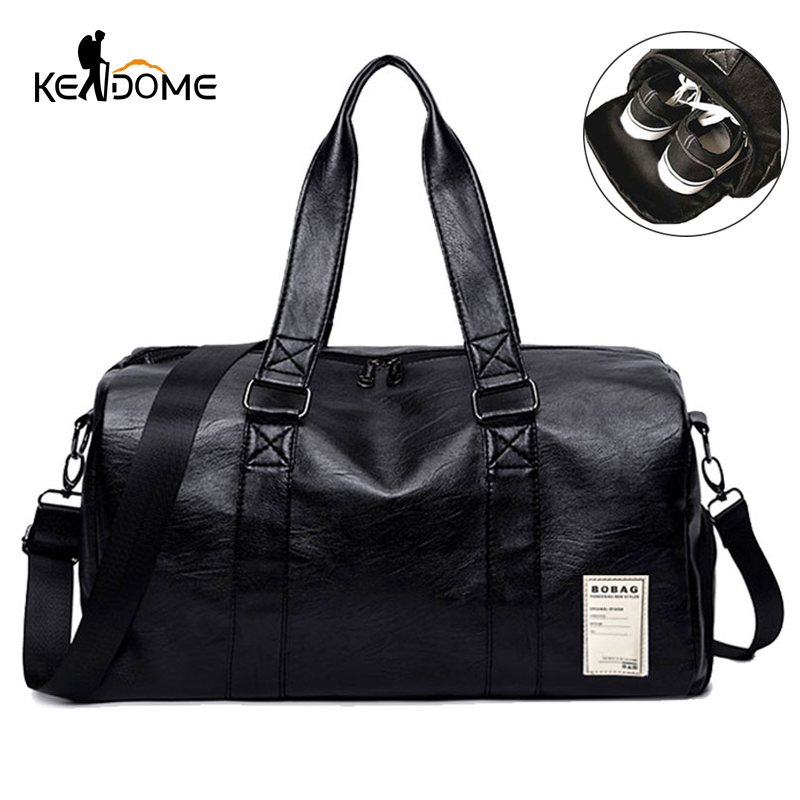 Pu Leather Gym Male Bag Top Female Sport Shoe Bag for Women Fitness Over the Shoulder