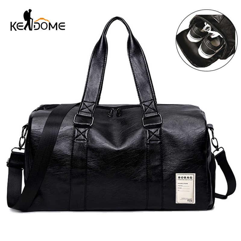 38eb4417aa5b Pu кожаные, для спортзала мужская сумка Топ женский сумка для спортивной  обуви для женщин фитнес