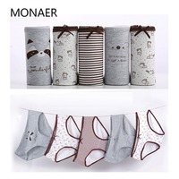 Monaer Sexy Women S Panties Briefs Cotton Print Heart Women Underwear Cute Comfortable Intimates Lingerie 5Pcs
