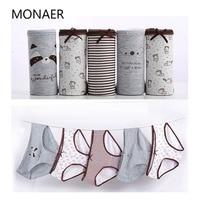 Monaer Sexy Women S Panties Briefs Cotton Print Heart Women Underwear Cute Comfortable Intimates Lingerie 5Pcs