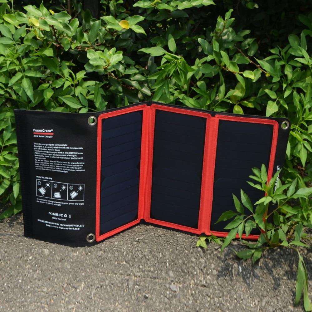PowerGreen Tunnfällbar solladdare 21 watt extern batteriryggsäck - Reservdelar och tillbehör för mobiltelefoner - Foto 4