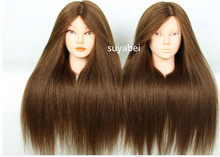 60CM hair length silk fiber mannequin head doll with practice hairdressing teaching