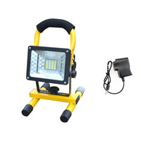 Portable Rechargeable Floodlight 30W 24 led Flood light Waterproof Outdoor lights with charger By18650 Battery construction lamp