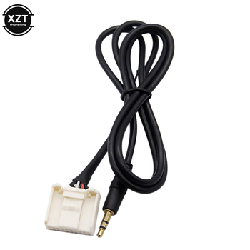 New 3.5MM AUX Audio Cable Radio Male Interface MP3 Player Phone Adapter for Toyota Car Cables Adapters Sockets image