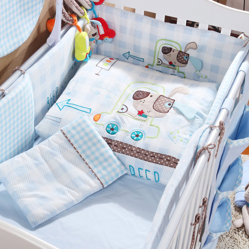 Aliexpress.com : Buy 7Pcs Set Cotton Baby Bedding Set Cartoon Beep ... : size of baby cot quilt - Adamdwight.com