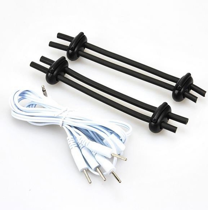 Electro Sex Kit Electro Shock Orgasm Parallel Bi-Polar Conductive Cock Ring Sex Toys For Men Electro Stimulation Peins Massage