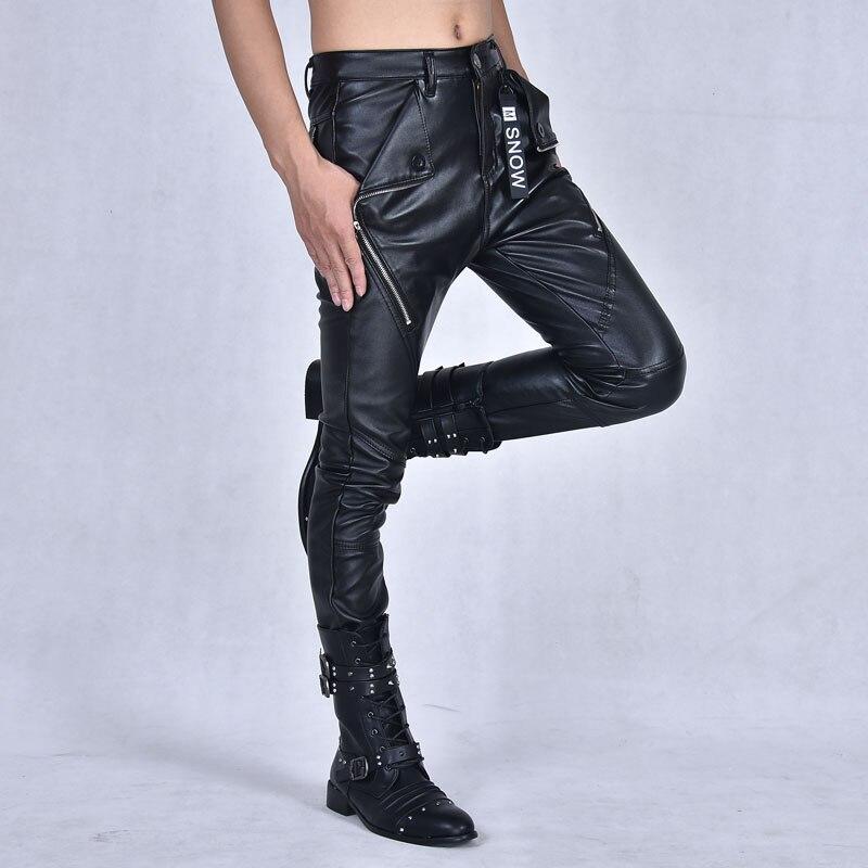 Plus 30 Épais Zipper Couture 1719 Personnalité Pantalon En 31 Mode Taille 29 Casual De 27 Hommes Chaud Nouveau 36 28 La Arrivla Cuir 32 gHwXO