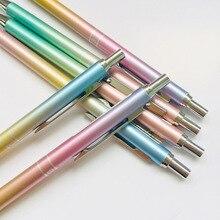 1Pcs 0.5mm Rainbow Gradient Color Metal Press Mechanical Pencils Student Automatic Pencil Stationery