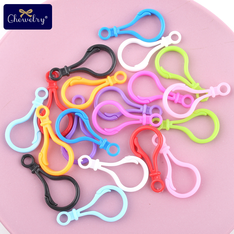 10pc Nipple Clip Plastic Buckle Colorful Omnipotent Buckle Baby Pacifier Clip For Kid Products Making Accessories Baby Teether