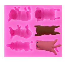 TTLIFE 6 Holes A Variety of Puppy Sugar Craft Chocolate Fondant Cake Silicone Mold Decoration DIY Tools Pastry Soap Making Mould