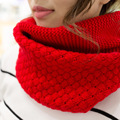 New Sale Autumn Winter Fashion Knitting Wool Collar Warmer Scarf Unisex Shawl Neck Wrap Ring Lic Women Scarves Sq321