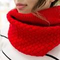 New Sale Autumn Winter Fashion Knitting Wool Collar Warmer Scarf Unisex Shawl Neck Wrap Ring Lic Women Scarves Sq321