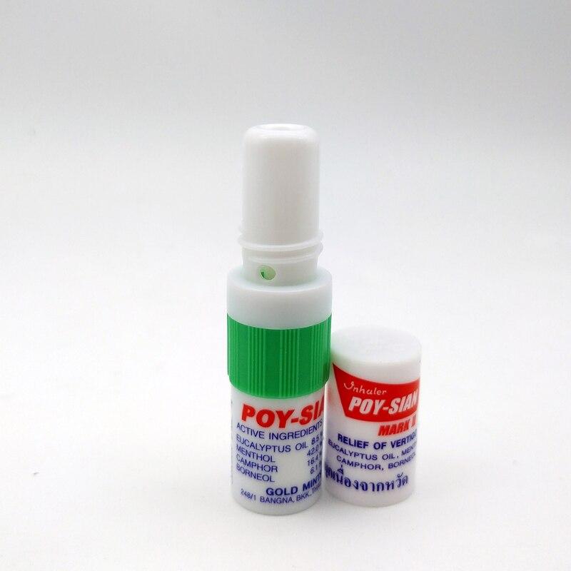 Thailand Nasal Inhaler Poy Sian Mark 2 Ii Nasal Smell Dizziness Inhaler Bracing Breezy Asthma Refreshing Aroma Oil Stick vasque ботинки inhaler ii low 7343 жен 6 magnet silver pine med
