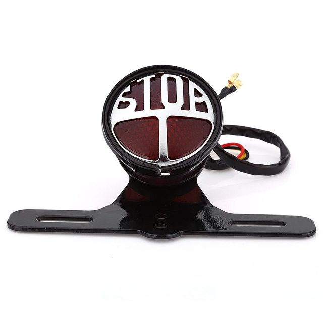 Break Stop Lamp Motorcycle Motorbike LED Tail Light Super Bright Universal Type Cool Appearance High Quality Plastic Material
