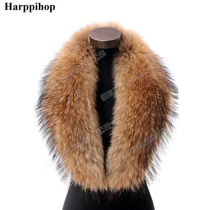 Hot Big collier take really real fur scarf raccoon collar natural press washer main kimberley shawls