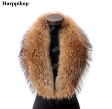 Hot!Big collier take really real fur scarf raccoon collar/natural press washer main kimberley shawls 100 cm * 18 centimeters