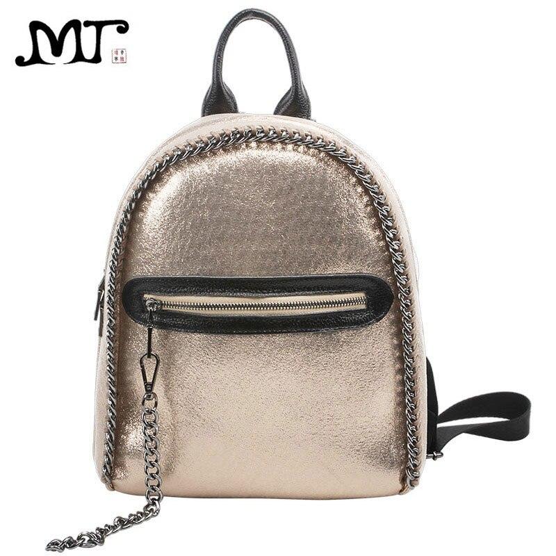 7c597f8ad5ff MJ Women Backpack Fashion Braided Chain Backpacks Female Korean Style  Metallic Backpack Large Travel Bag Holographic School Bag