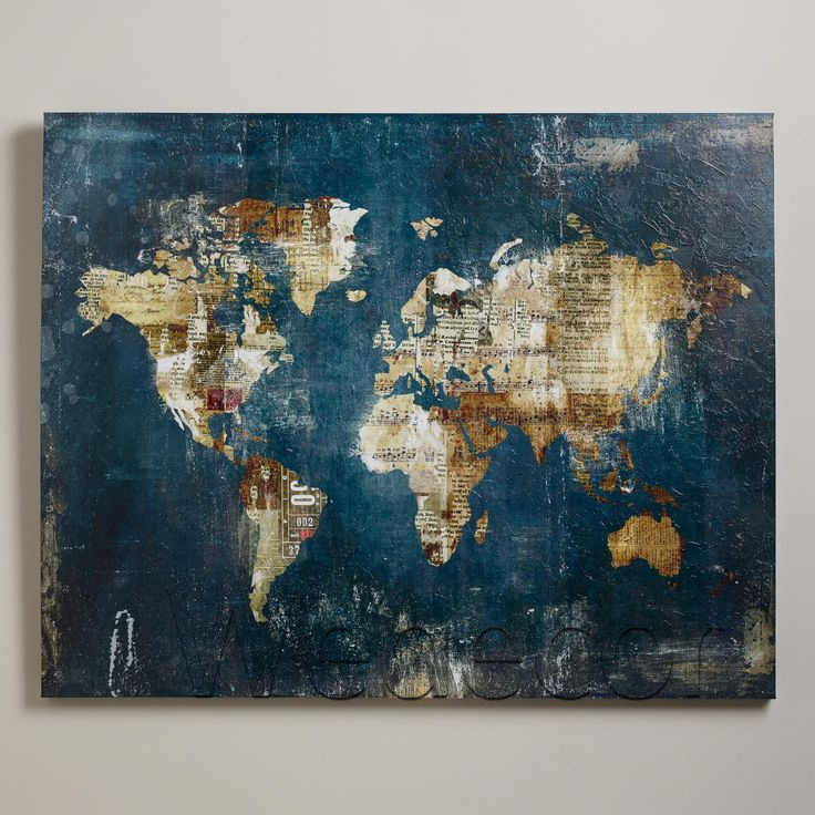 1pcs Large Huge HD  Abstract World Map Vintage Oil Painting Print On Canvas Painting Home Decor Wall Pictures UnFrame Wall Art