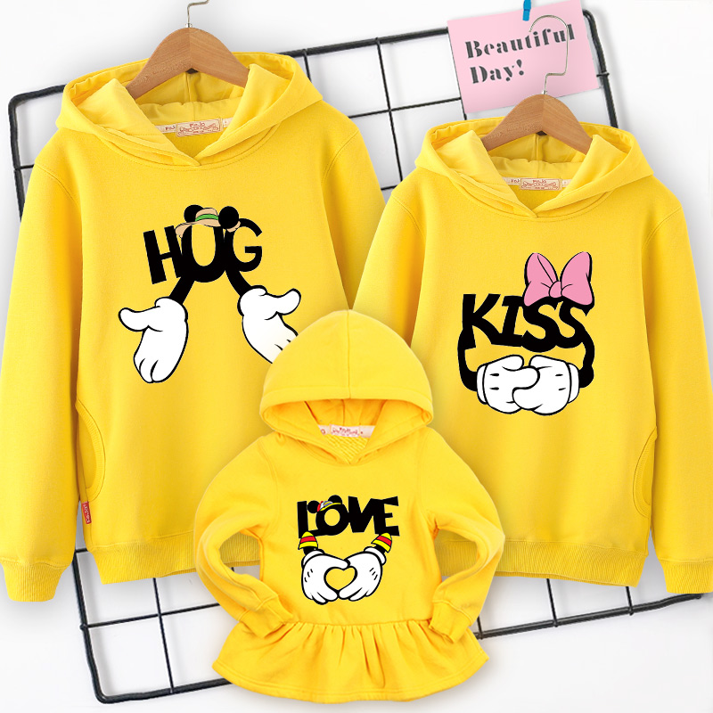 Family clothes family matching Hooded sweater 2019 spring  new mother daughter dresses  father and son mom and girl clothing-in Matching Family Outfits from Mother & Kids