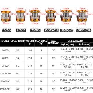 Image 3 - DAIWA REGAL LT fishing spinning reels 1000D 2000D 2500D 2500DXH 3000DC 3000DCXH 10BB Air Rotor Aluminum Spool Fishing wheels